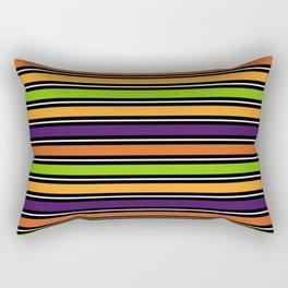 Modern colorful halloween October 31 abstract stripes Rectangular Pillow
