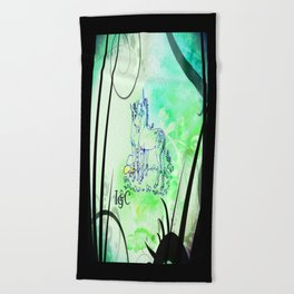Unicorn Gemini: Blue Beach Towel