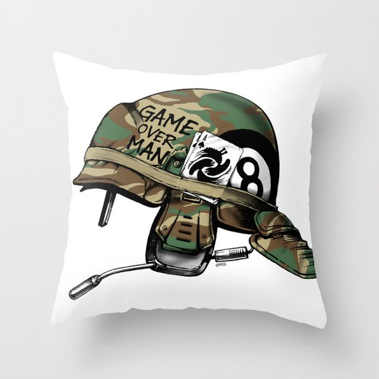 Game Over, Man! Throw Pillow