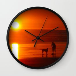 Kalaloch Sunset Wall Clock