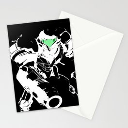 Samus Stencil Stationery Cards