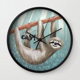 Take It Easy Wall Clock