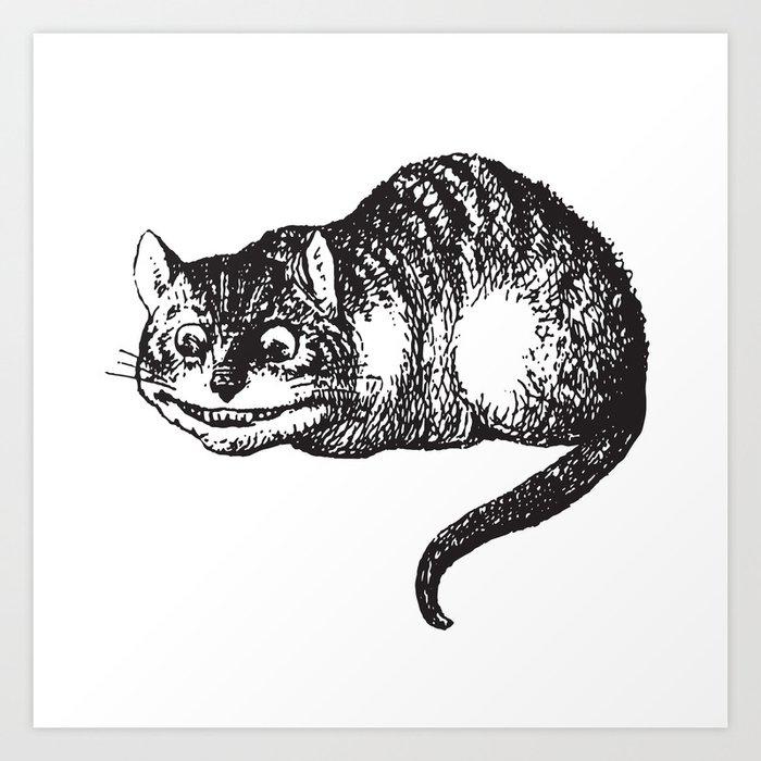 Cheshire Cat Alice In Wonderland Art Print By Luminariumgraphics Society6