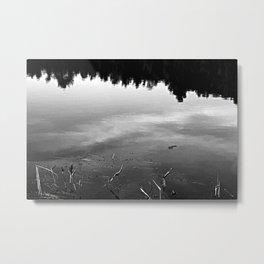 New Hampshire Pond Reflection Metal Print