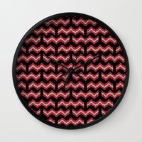 8 bit Wall Clocks featuring 8 Bit Bacon  by robyriker
