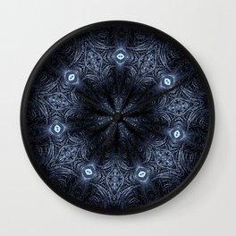 Blue Eyes Mandala Wall Clock