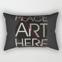 The Art Placeholder Rectangular Pillow