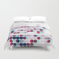 polkadot Duvet Covers featuring 3D Polkadot by James K