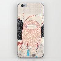 dance iPhone & iPod Skins featuring raccoon dance by Nayoun Kim