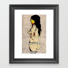 Iron Girl Framed Art Print