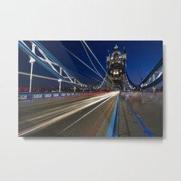 Tower Bridge, London  at night Metal Print
