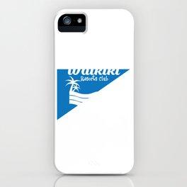 Fresh Hawaiian Style Tshirt Design Waikiki resort iPhone Case