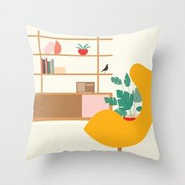 Inside mid century modern 321 Throw Pillow