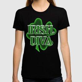 Irish Diva - St Patrick's Day Clover T-shirt