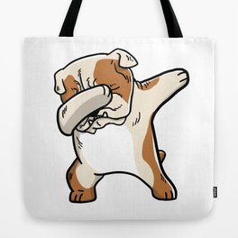 Funny English Bulldog Dabbing Tote Bag