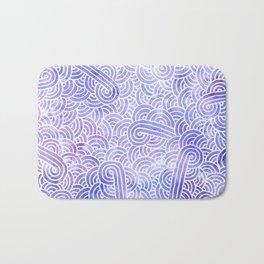 Lavender and white swirls doodles Bath Mat