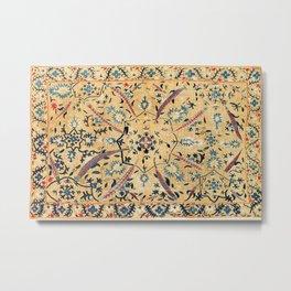 Kermina  Suzani  Antique Uzbekistan Embroidery Metal Print