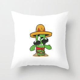 Mexican Cactus Throw Pillow