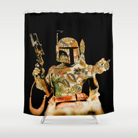 boba Shower Curtains featuring Boba by Robotic Ewe