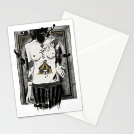 Target girl Stationery Cards