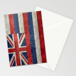 Hawaiian Flag in Vintage Retro Style Stationery Cards