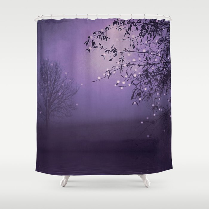 SONG OF THE NIGHTBIRD - LAVENDER Shower Curtain by monikastrigel ...