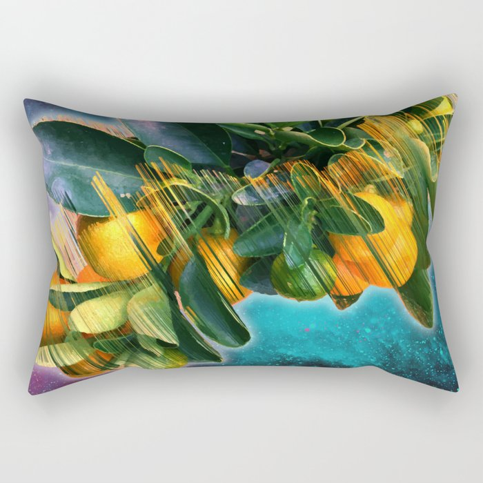 Small fruit tree in outer space Rectangular Pillow