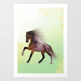 A horse, a friend Art Print