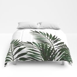 Palm Leaves Green Comforters