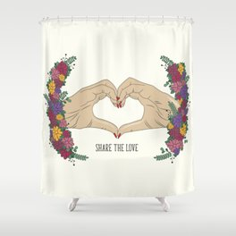 Share The Love Shower Curtain