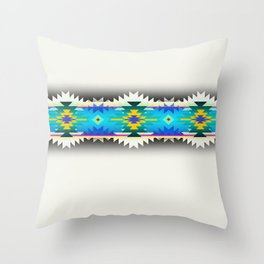 in turquoise Throw Pillow
