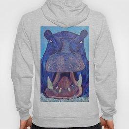 Big Purple Hippopotamus Hoody