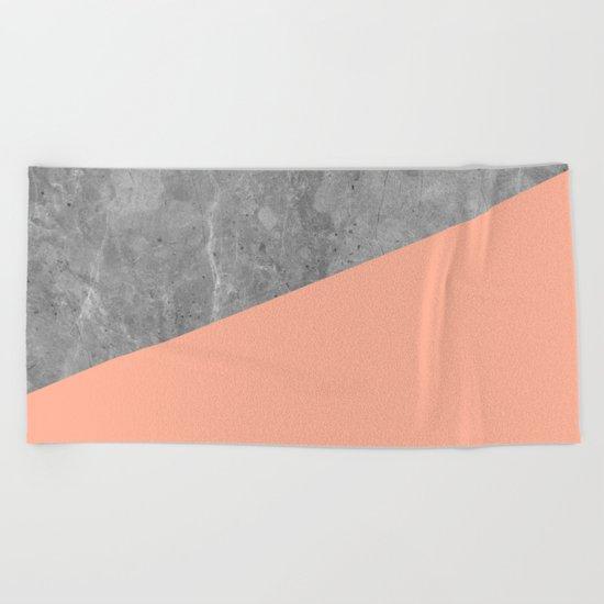 Geometry 101 Sweet Peach Pink Beach Towel