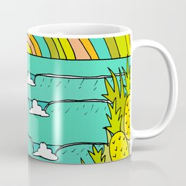 pineapple fields and endless summer vibes Coffee Mug