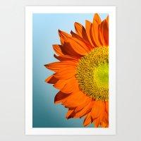 sunflowers Art Prints featuring sunflowers by mark ashkenazi