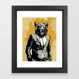 Bear Market Framed Art Print