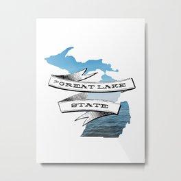 The Great Lake State IV Metal Print