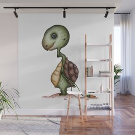 Tortoise with flower Wall Mural