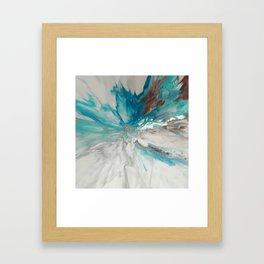 Blown Away - Abstract Acrylic Art by Fluid Nature Framed Art Print