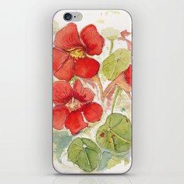 Watercolour Nasturtiums iPhone Skin