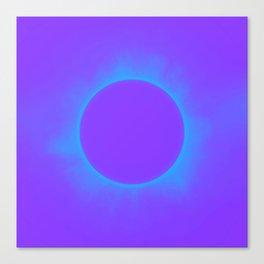 Solar Eclipse in Auroa Colors 2 Canvas Print
