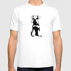 Miniature Schnauzer White Mens Fitted Tee SMALL