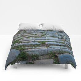 Cobblestones And Grass Comforters