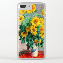 Bouquet of Sunflowers Clear iPhone Case