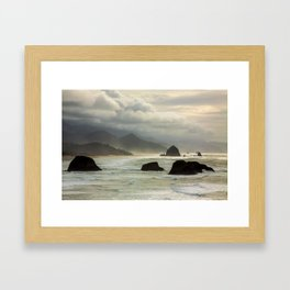 Cannon Beach Mood Framed Art Print