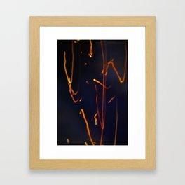 fire paint Framed Art Print