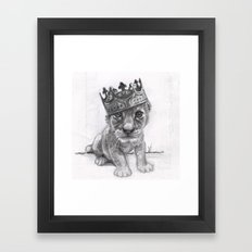 Baby Lion Framed Art Print