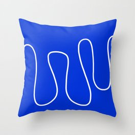 Blue Abstract Wave Throw Pillow