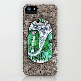 Flattened Heineken Can iPhone Case