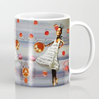 bonjour Mugs featuring bonjour by Gina Geo